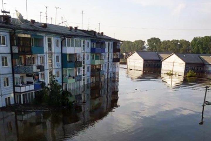 Наводнение в Тулуне: за сутки в городе выпала месячная норма осадков