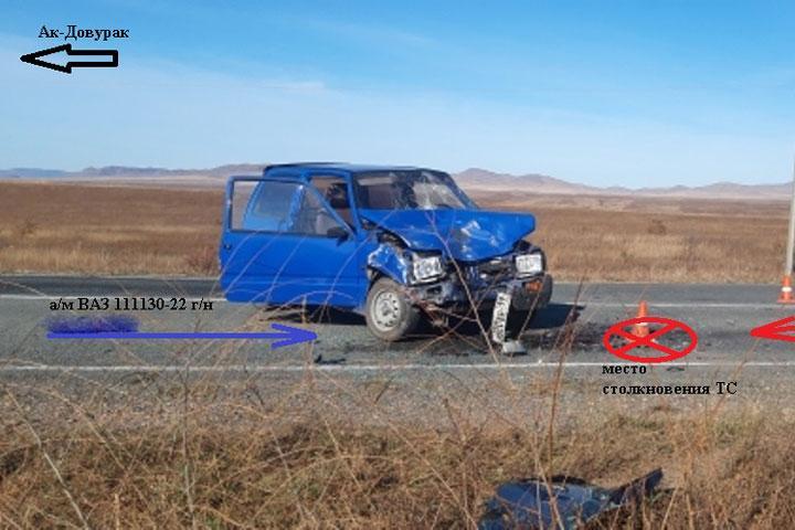 На Аскизском тракте лоб в лоб сошлись «Ока» и Toyota