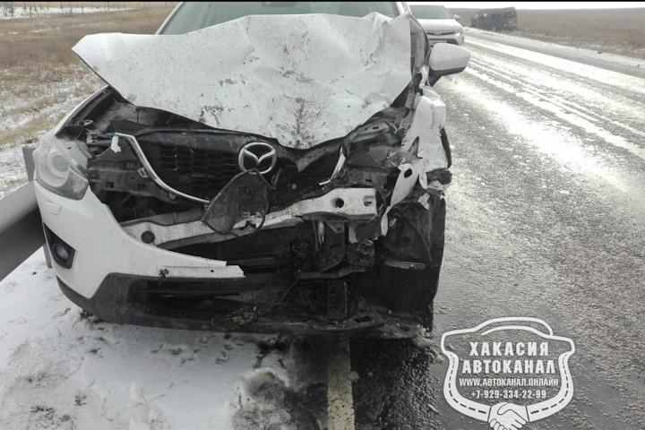 Гололед стал причиной аварии под Пригорском
